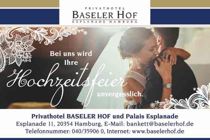 Visitenkarte Privathotel Baseler Hof und Palais Esplanade.