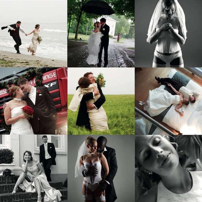 Fotocollage von neun Brautpaaren von Elfriede Liebenow Hochzeitsfotografie in Hamburg