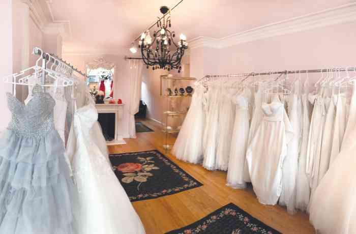 Der neu gestaltete Showroom Hamburger Brautsalon