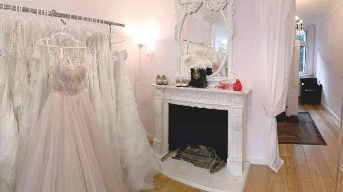Showroom Hamburger Brautsalon. Nicht nur für Prinzessinen.
