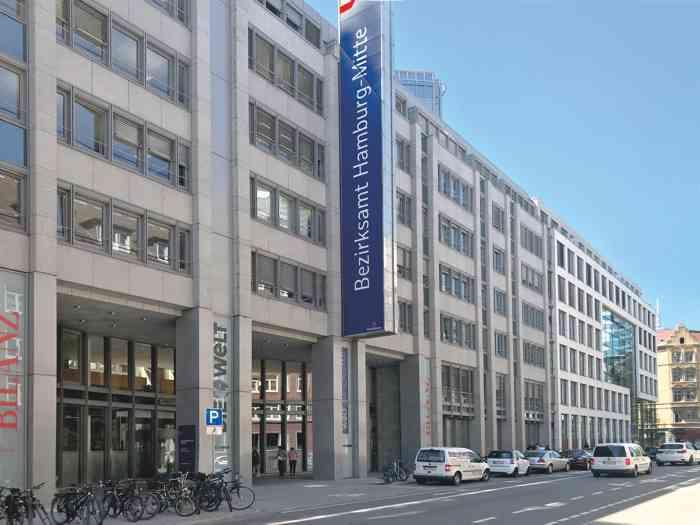 Neues Gebäude Standesamtes Hamburg-Mitte Haupteingang