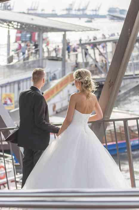 Braut und Bräutigam Landungsbrücken