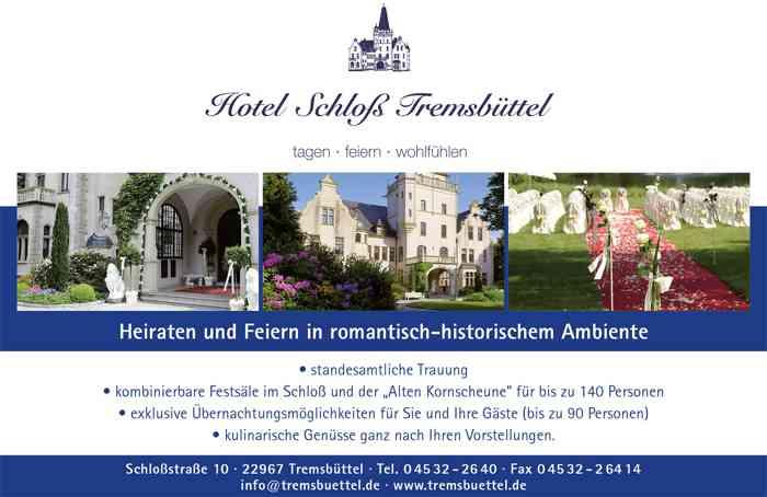 Plakat Hotel Schloss Tremsbüttel