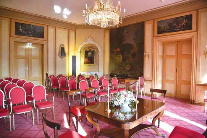 Trauraum Gartensaal des Standesamt Ahrensburg im Schloss Ahrensburg bis zu 40 Personen