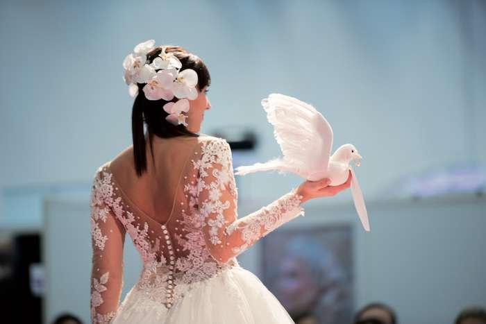 Auf der TrauDich! Hochzeitsmesse im Terminal Tango Hamburg zeigen die Aussteller Brautkleider der aktuellen Kollektionen.