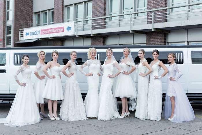10 Bräute zeigen auf der TrauDich! im Terminal Tango die aktuellen Kollektionen.