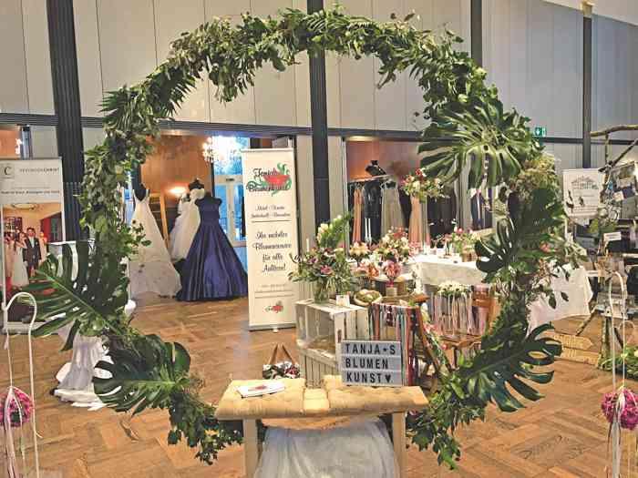 Hochzeitsfloristik auf der Hochzeitsmesse Festival der Hochzeit im Kieler Schloss