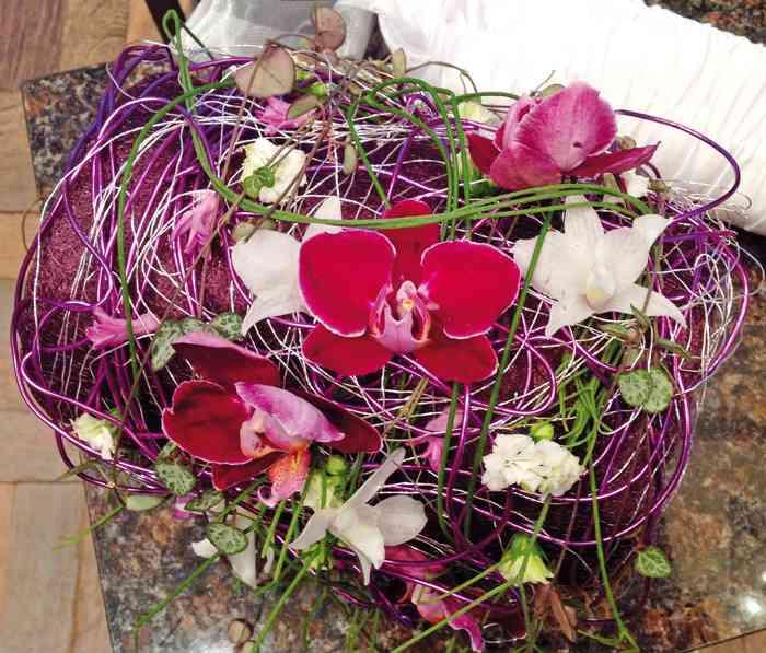 Hochzeitsflorstik auf der Hochzeitsmesse Festival der Hochzeit im Kieler Schloss Kiel Orchideen