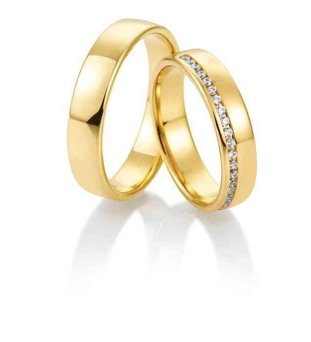 Eheringe Ringe Gelbgold Diamanten