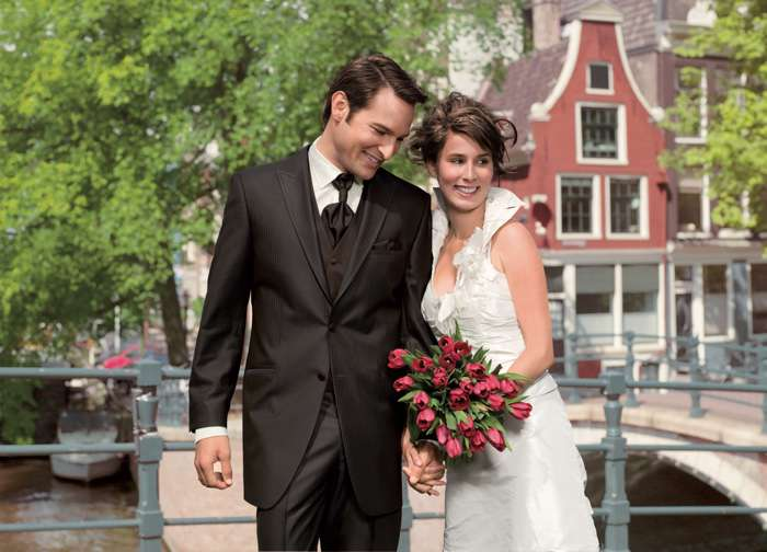 Bräutigam Hochzeit Anzug Braut Brautkleid