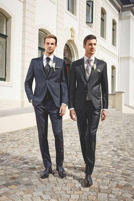 Hochzeitsanzug Blau Schwarz von Reese