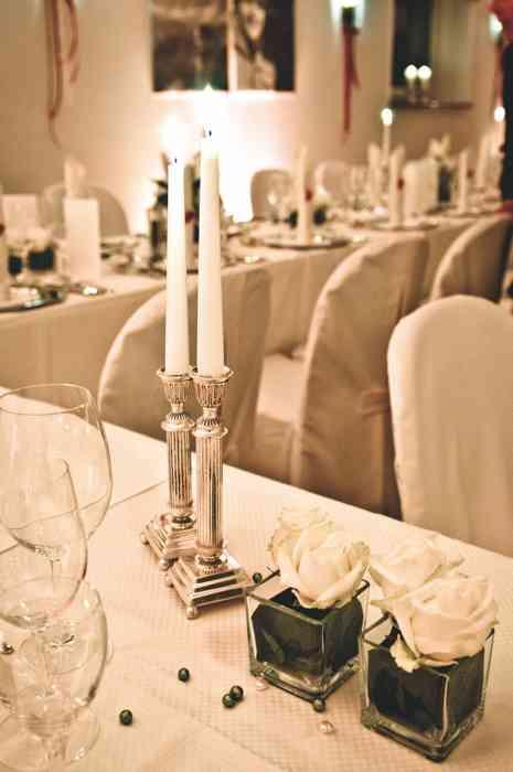 Fuchsbau Romantik Hotel Restaurant Spa festliche Tischdekoration