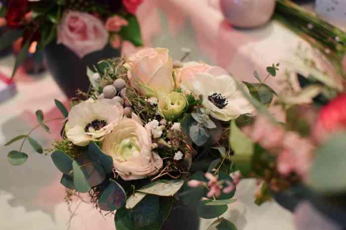 Hochzeitsmesse Herz an Herz Lübeck Hochzeitsfloristik Brautstrauß