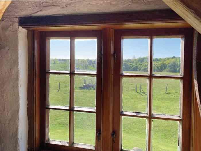 Blick aus dem Fenster der Hochzeitsmühle.