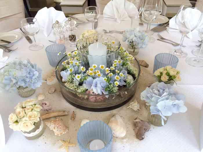 Tischdekoration in Blau von Eventmanagement Gabi Loewel