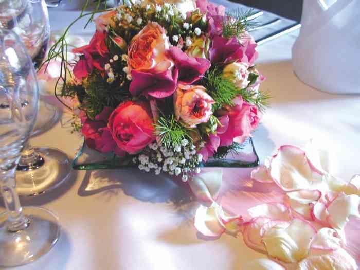 Tischdekoraion zur Hochzeit