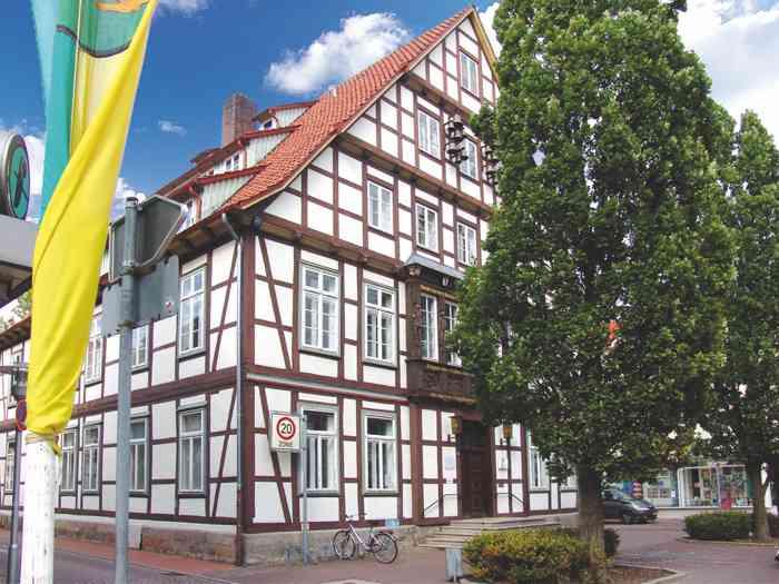 Fachwerkgebäude Standesamt Burgdorf in der Region Hannover.