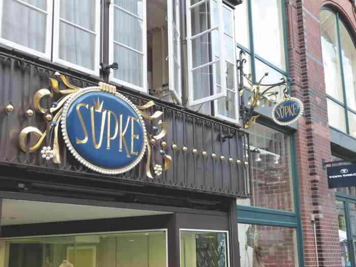 Juwelier Süpke Geschäft in der Bäckerstraße in Lüneburg