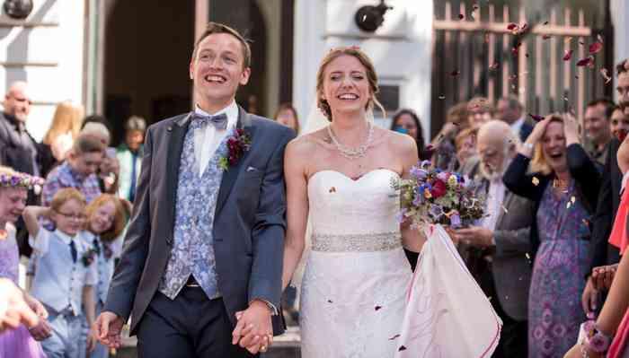 Hochzeitsfotografin catrin-anja eichinger Empfang des Brautpaares