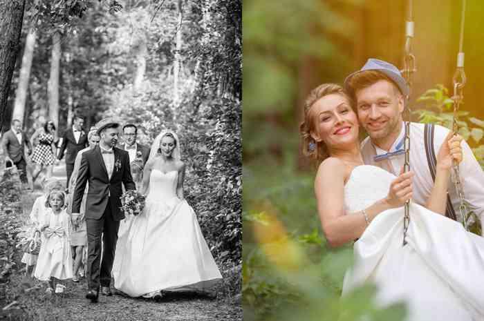 Hochzeitsfotografin catrin-anja eichinger Brautpaarshooting im Wald