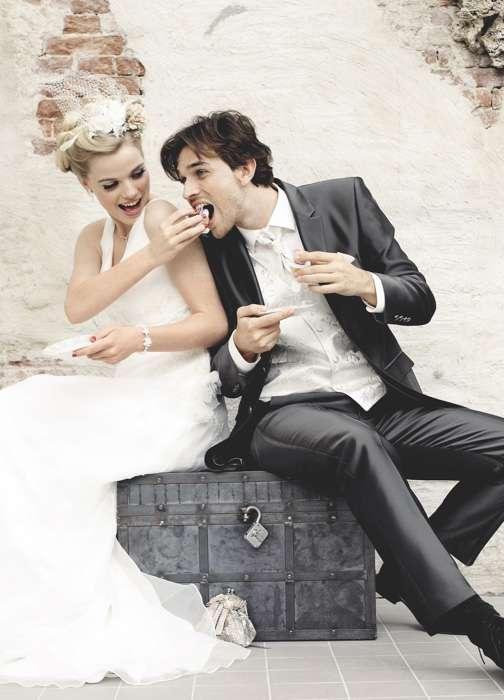 Brautpaar Anzug Brautkleid