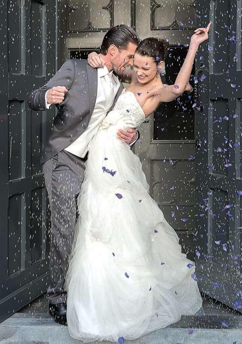 Braut Bräutigam Hochzeit Anzug Brautkleid