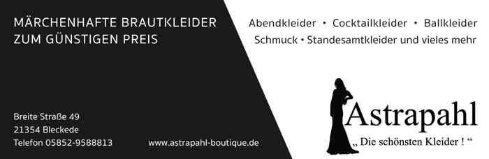 Astraphal Brautmode Visitenkarte