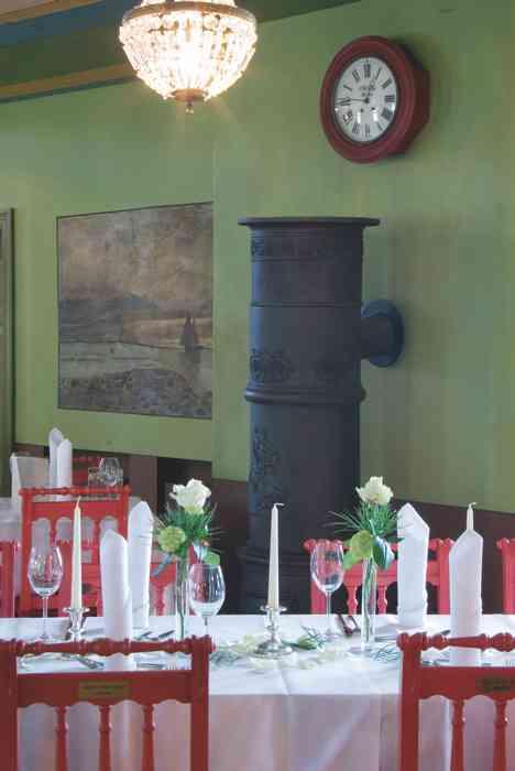 Hochzeitslocation Freilichtmuseum am Kiekeberg eingedeckte Tische