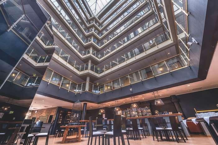 Atrium des Das Wyndham Hotel Hannover