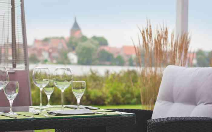 Seehotel Schwanenhof Blick über den See