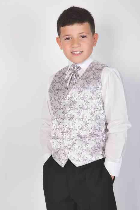 Ceile Kleiderverleih für Kinder festlicher Anzug in Silber für Jungen