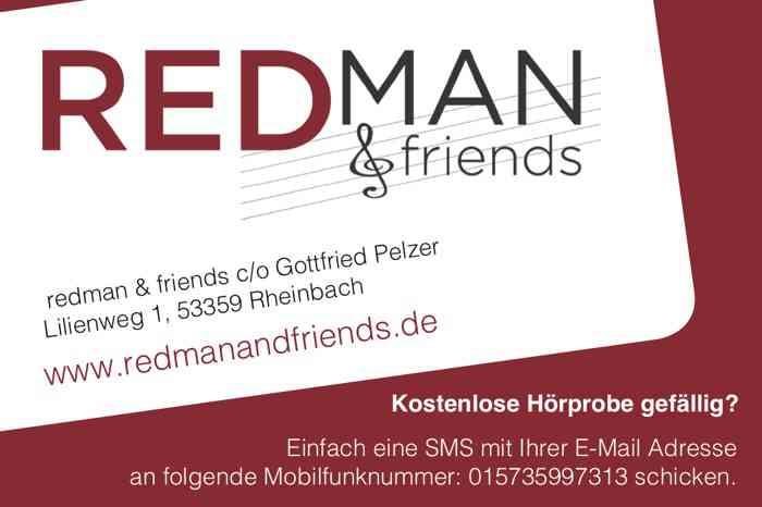 REDMAN und Friends Visitenkarte