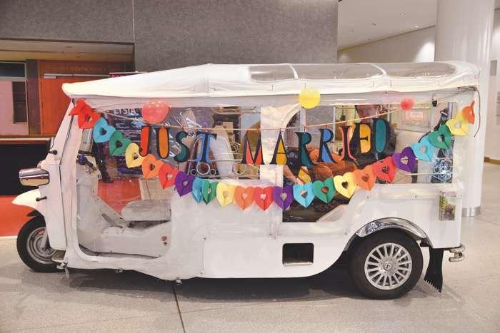 Hochzeitsfahrzeug auf der Hochzeitsmesse Herz an Herz in Neumünster