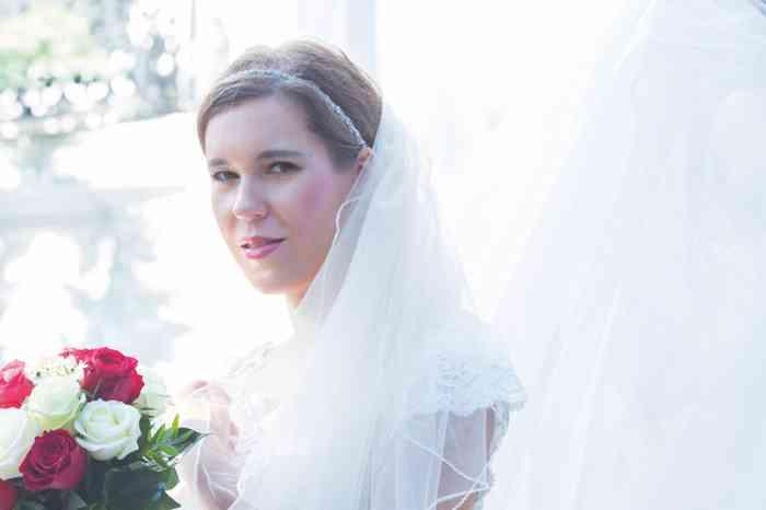 Braut zart gestylt von Anna Mandel Clazzik Kosmetik