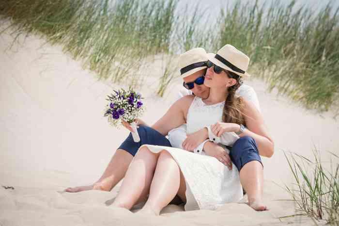 Brautpaar am Strand von Norderney