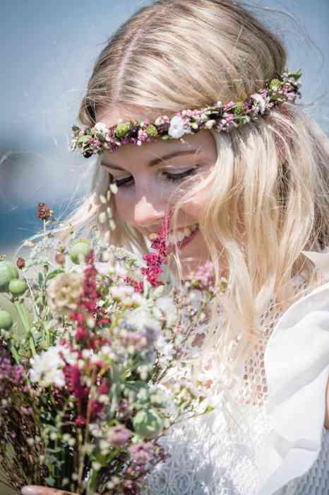 Flowerpower Vintage Hochzeit am Strand von Fehmarn