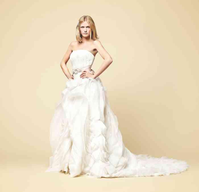 Brautkleid Volant-Rock Schleppe Wediva
