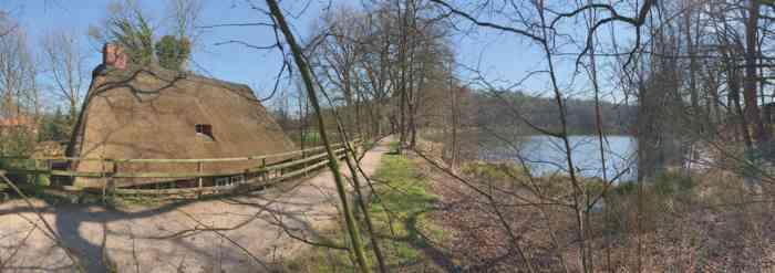 Wassermühle Ovelgönne am Mühlensee.