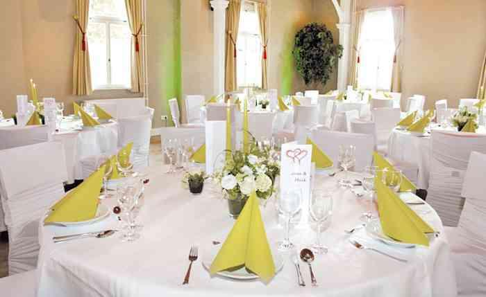 Der Festsaal der Hochzeitslocation Landhaus Siemers.