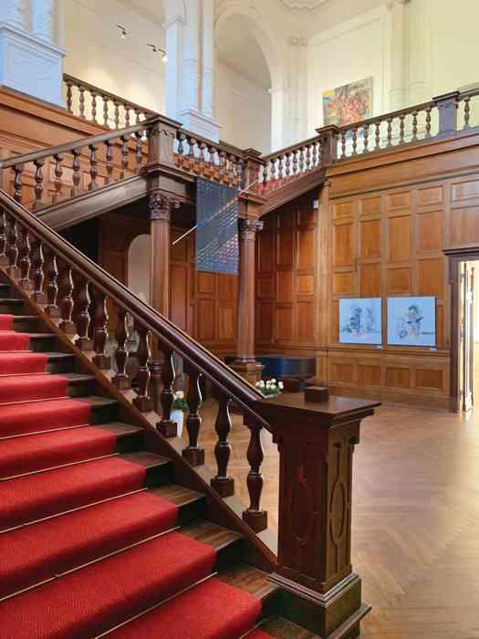 Trauraum und Treppe Schloss Wiligrad