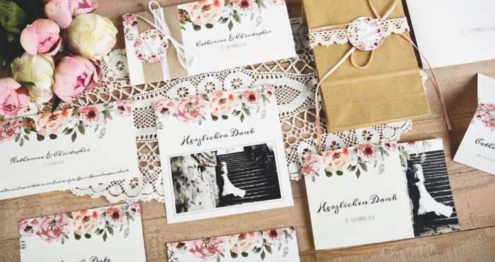Hochzeitsdanksagung mit Foto von carinokarten.de
