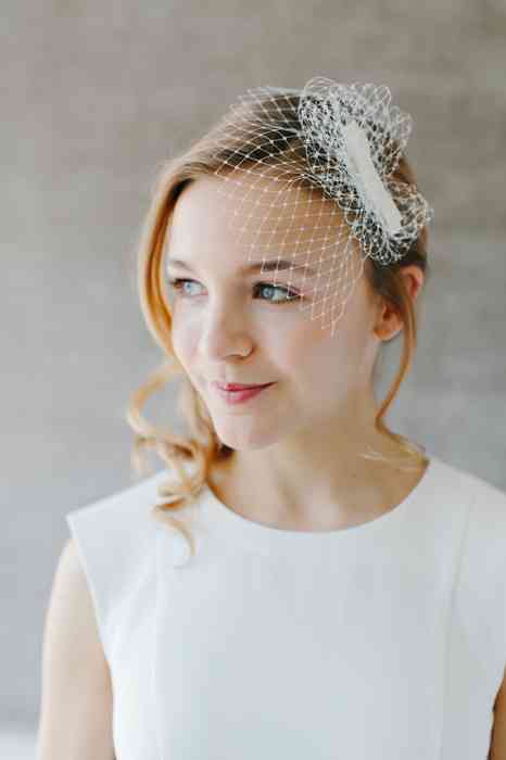 BelleJulie Bridal Accessoires Audrey Birdcage Fascinator