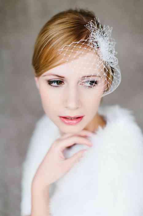 BelleJulie Bridal Accessoires Sophie Birdcage Fascinator