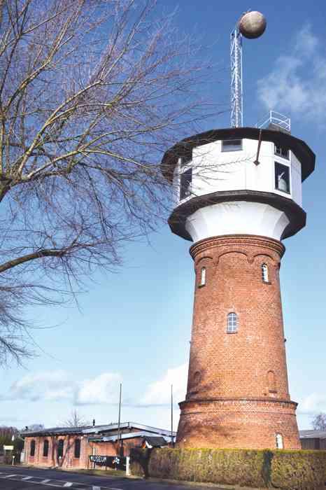 Der historische Wasserturm in Hohenlockstedt