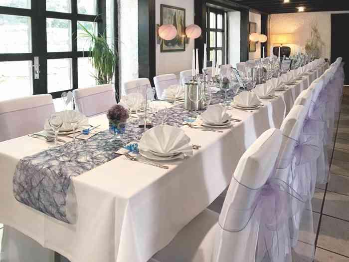 Tischdekoration im Hotel Restaurant Steinkrug
