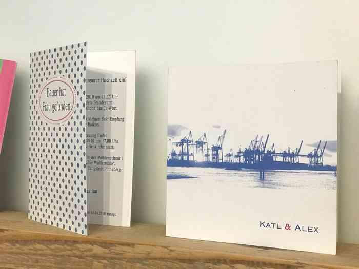 Einladungskarten Motiv Hamburger Hafen