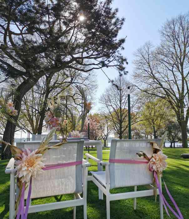 Trauzeremonie im Park des The Fontenay Hamburg Hochzeitslocation