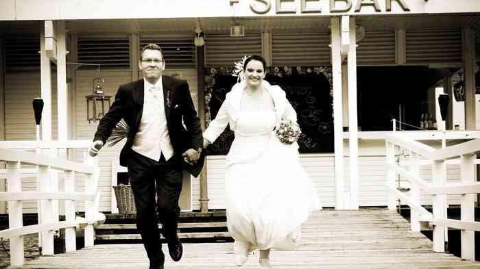 Brautpaar Seebar Düsternbrook.