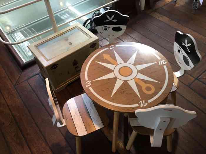 Kindertisch an Bord der Rickmer Rickmers