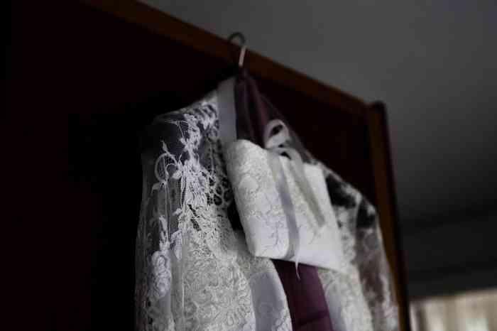 Das Brautkleid ist jedenfalls schon bereit